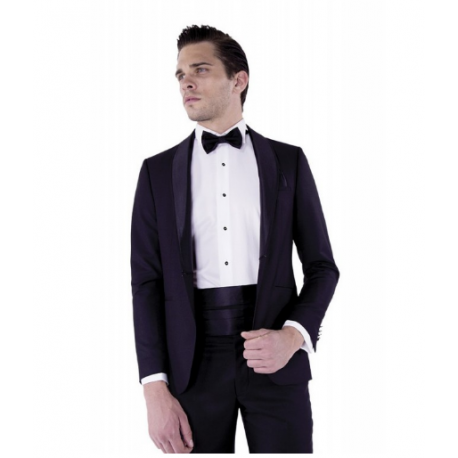 Costume de marié smoking noir noeud papillon ceinture satin boutique Sandra Mariage SAINT MAXIMIN 60740 CHANTILLY 60500 COMPIEGNE 60200 THIESCOURT CREIL Oise 60 Aisne 02 Somme 80 Seine et Marne 77 Val d'Oise 95 homme cérémonie invité Seine Maritime 76 Eure 27
